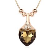 Alvdis Fashion Jewellery Chestnut Style Alloy Crystal Long Sweater Chain Pendant Necklace, 80cm