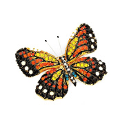Monarch Butterfly Crystal Pin