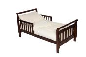 TL Care Minky Dot Chenille 4 Piece Toddler Bed Set, Ecru
