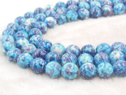 COIRIS 10MM Synthetic Riverstone Blue Gem Round Stone Loose Beads for Bracelet Jewellery Making & DIY & Design Findings