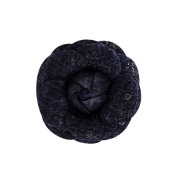 Mogor Women's 4 Colour Tweed Camellia Flower Pin Brooch with Gift Box Blue