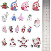 Yumei Silver Tone Eage Christmas Charms for DIY Jewellery Making,17 Pcs