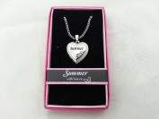 Hallmark Love Locket Necklace with 41cm - 46cm Adjustable Chain - Summer
