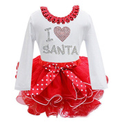 Efaster(TM) New Baby Girl Kids Bowknot Long Sleeve Christmas Day Dress Clothes