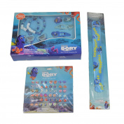 Disney Pixar Finding Dory Earrings, Rings, Hair Ties, Bracelets, and Slap Bracelet Fun Package …