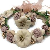 Bridesmaid Wrist Wedding Headband set : S13