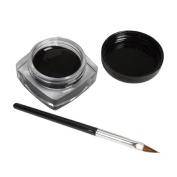 Gillberry Mini Eyeliner Gel Cream With Brush Makeup Cosmetic Black Waterproof Eye Liner