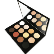 12 Colours Professional Powder Makeup Palette with Mirror, Shimmer Matte Eyeshadow ,Everyday Natural Look , By Beauty Bon