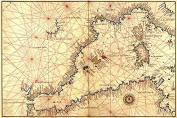"Buyenlarge 0-587-23660-4-P1218 ""Portolan Or Navigational Map of The Western Mediterranean From Gibraltar To Piedmont & Sardinia"" Paper Poster, 30cm x 46cm"