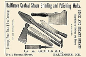 """Buyenlarge 0-587-22634-x-P1218 """"Baltimore Central Steam Grinding and Polishing Works"""" Paper Poster, 30cm x 46cm"""