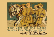 """Buyenlarge 0-587-21051-6-P1218 """"The Girl on Land Serves The Nations Need"""" Paper Poster, 30cm x 46cm"""