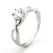 Sterling Silver Infinity Ring w/ Cubic Zirconia Crown