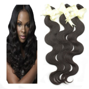 Best Quality Brazilian Virgin Remy Real Human Hair Extension Body Wave,Mixed Length(20cm ~80cm ),6A Grade(Natural Colour 50g/pc)