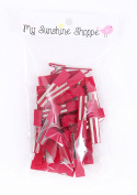 Partially LINED Double Prong Craft Alligator Clips - 25 Hair Clips - Wine