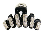 JCPeniel Womens Large Fancy Good Quality Rhinestones Claw Clip Jaw Clips For Thick Hair
