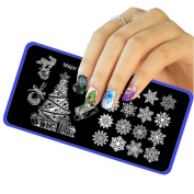 Nail Art ! AMA(TM) Christmas DIY Nail Art Image Stamp Stamping Plates Manicure Template