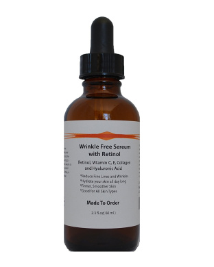 Wrinkle Free Serum with Retinol, Vitamin C and E, Collagen, and Hyaluronic Acid (70ml)