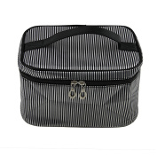 Fakeface Large Capacity Stripes Carrying on Handle Zipper Laundry Clothes Underwear Socks Bra Organiser Toiletry Washing Bags Makeup Cosmetic Storage Bag Travel Luggage Essential Case Holder