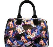 Bettie Page Signature Product Women's Collage Satchel Bag BPG1082