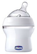 Chicco Natural Fit Slow Flow Bottle with Bonus Straight Nipple, 0 Months+, 150ml