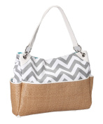Caught Ya Lookin' Chic Nappy Bag, Grey Chevron