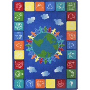 Joy Carpets Kid Essentials Geography & Environment One World Rug, Primary, 2.1m x 3m