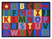 Joy Carpets Kid Essentials Early Childhood Oversize Alphabet Rug, Multicoloured, 1.5m x 2.1m