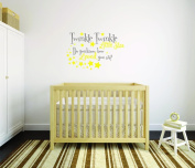 Design with Vinyl Moti 2529 3 Decal Peel & Stick Wall Sticker: twinkle Little Star Do You Know How Loved You Are. Quote Boy Girl Colour