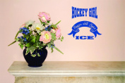 Design with Vinyl Moti 2207 3 Decal - Peel & Stick Wall Sticker : Hockey Girl Sugar and Spice Ice Text Lettering Sports Quote Colour