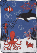Green 3 Sea Life Throw Toddler Blanket