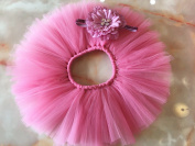 Graces Dawn Newborn Girl Baby Photo Photography Prop Headband and Tutu Skirt pink