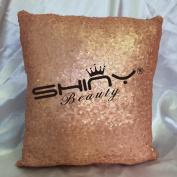 ShinyBeauty Blush-Sequin Pillow Cover-30cm x 30cm ,Shimmer Pillow Cover,Sparkly Sequins Pillow Cover