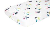 Nursery Works Organic Cotton Percale Sheet, Sea Animals, Oceanography