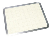Almond Graphic Built-in Surface Saver Tempered Glass Cutting Board with Stainless Steel Frame