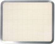 Vance Surface Saver 41cm x 50cm Built-in Tempered Glass Cutting Board, Almond Graphic