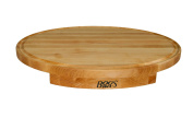 John Boos Corner Counter Saver Maple Wood Oval Cutting Board, 60cm x 46cm x 3.2cm