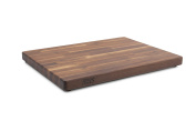 John Boos Blended Walnut Wood Edge Grain Cutting Board with Feet, 60cm x 43cm x 3.8cm