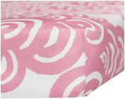 Oilo Bloom Crib Sheet, Petal Pink