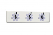Flower Wall Hook Board, lavender