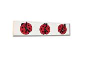 Ladybug Wall Hook Board, red