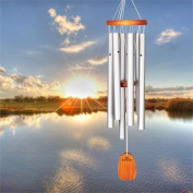 Amazing Grace Chime Med - Sandblast Silver - Woodstock Chimes