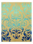 Blue Ombre Stencil Art
