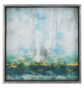 Aqua Blue Abstract Art