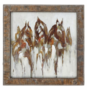 Equestrian In Browns And Golds Abstract Art