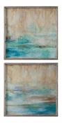 Through The Mist Abstract Art, S/2