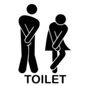 Wall Sticker,SMTSMT Removable Cute Man Woman Washroom Toilet WC Sticker