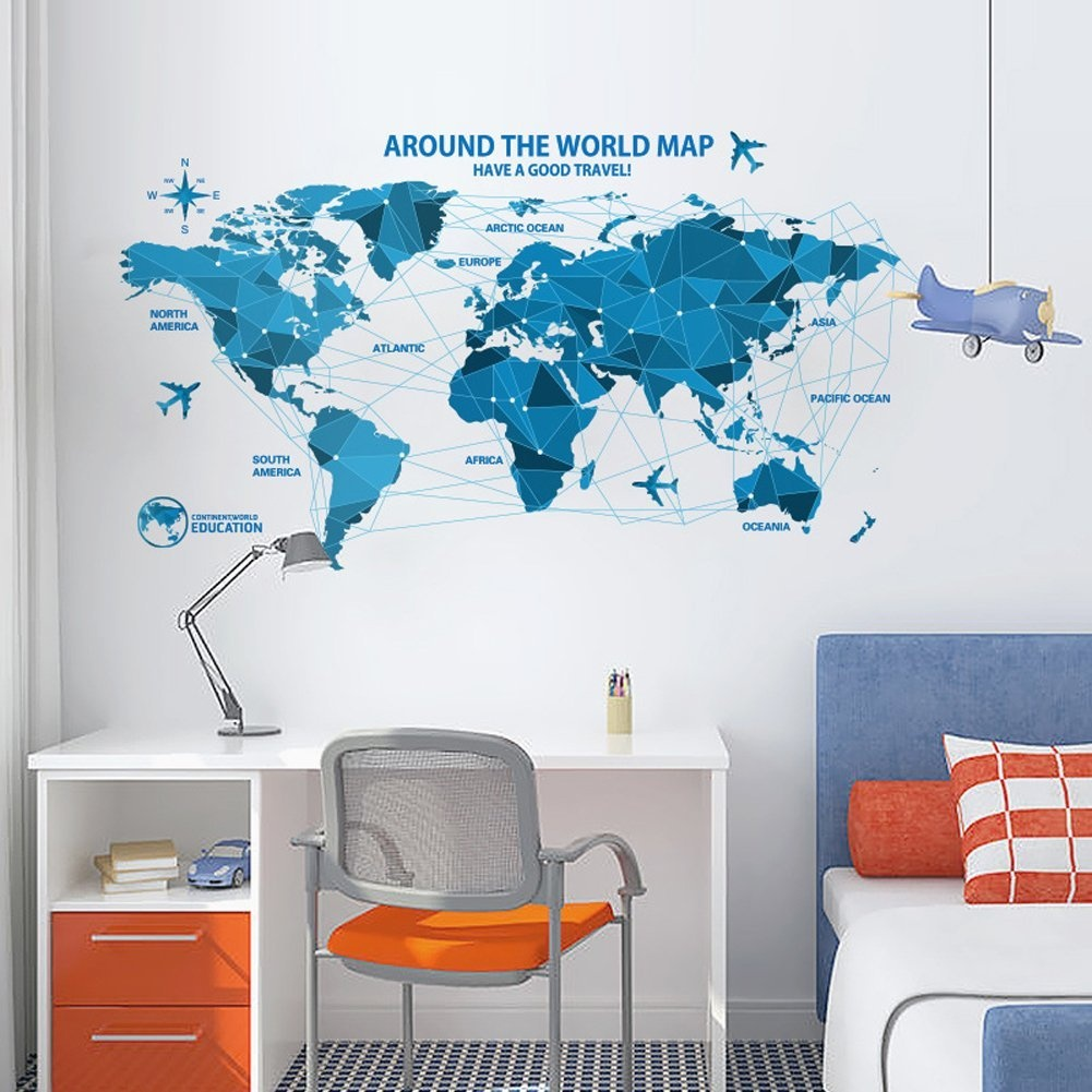 World map wall decal baby buy online from fishpond gumiabroncs Image collections