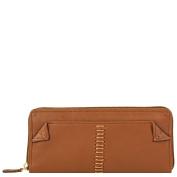 Hidesign Stitch Leather Women's Zip Around Wallet, Red