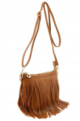 Small Fringe Crossbody Bag with Wrist Strap