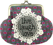 Natural Life Boho Kiss-lock Coin Purse Live Laugh Love